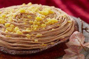 モンブラン風ベイクドマロンチーズケーキ