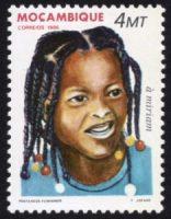 アフリカ女性の伝統的な髪形 「ミリアム」(モザンビーク 1986年)